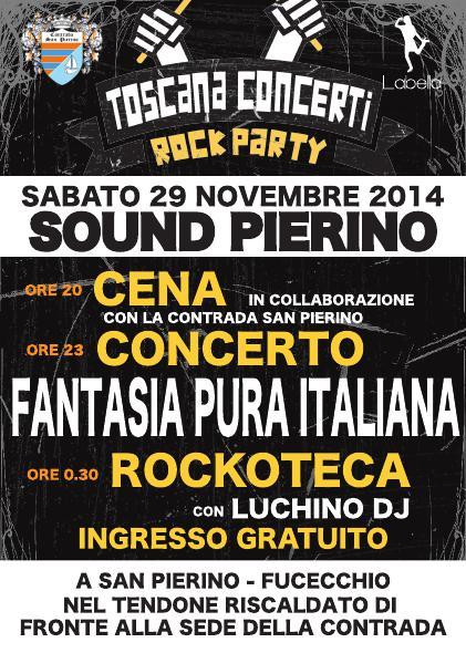 Sound Pierino Rock Party 2014 Volantino Fronte